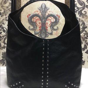 Michael Kors Studded Leather Hobo Bag